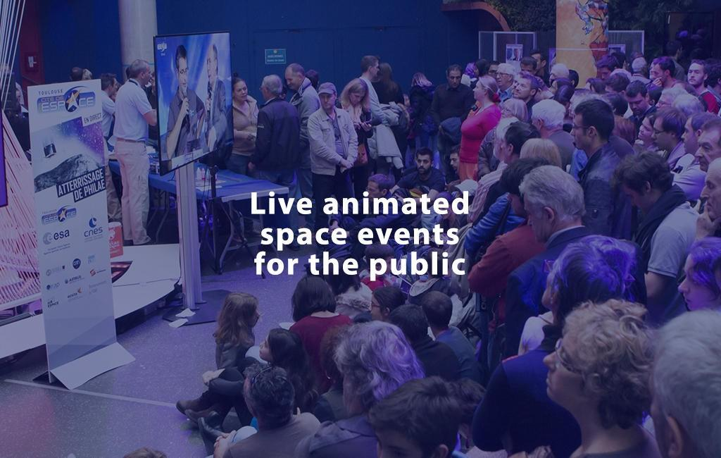Live animated space evnts for the public