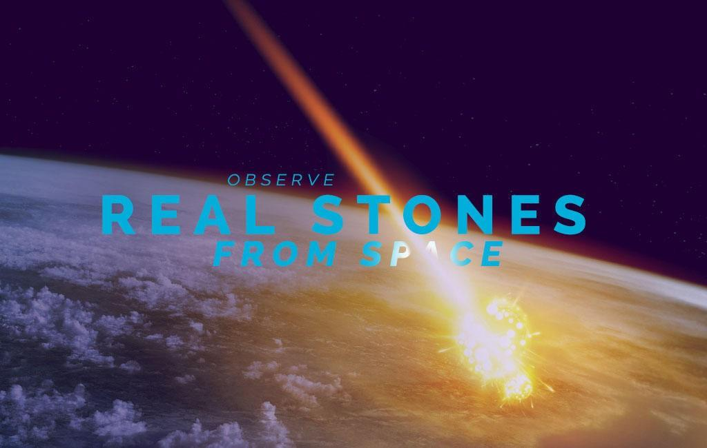Observe real stones from space