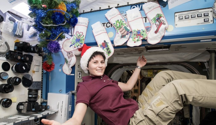 Festive celebrations on the ISS