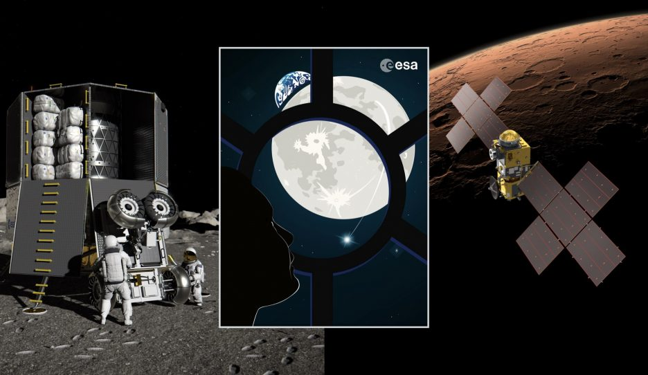 THE ESA COMMITS ITSELF FOR THE MOON AND MARS