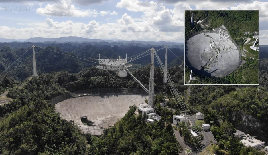 Arecibo : the end of a giant