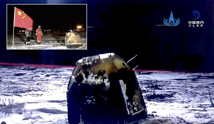 CHANG'E 5 BRINGS PIECES OF THE MOON BACK TO EARTH