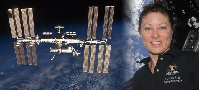 ISS communicating in sign language